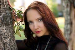 Retrato bonito do outono da menina Imagem de Stock Royalty Free