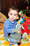 Retrato bonito do rapaz pequeno Fotografia de Stock Royalty Free