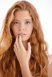 Retrato bonito do redhead fotografia de stock royalty free