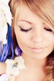 Retrato bonito joven de la muchacha Fotografía de archivo libre de regalías