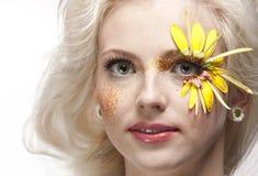 Retrato bonito novo da arte da mulher. imagens de stock