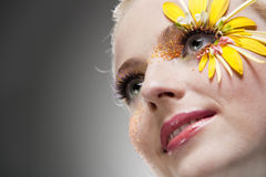 Retrato bonito novo da arte da mulher. foto de stock
