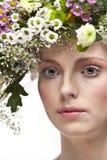 Retrato bonito novo da arte da mulher. fotografia de stock royalty free