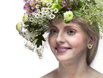 Retrato bonito novo da arte da mulher. fotografia de stock