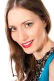 Retrato bonito novo da cabeça da mulher Foto de Stock Royalty Free