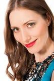 Retrato bonito novo da cabeça da mulher Fotos de Stock Royalty Free