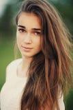 Retrato bonito novo da menina fotos de stock royalty free