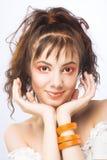 Retrato bonito novo da menina Imagens de Stock Royalty Free