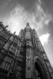 Retrato Brexit de la torre de Westminster mono Imágenes de archivo libres de regalías