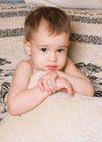Retrato brilhante do bebê adorável Fotografia de Stock Royalty Free