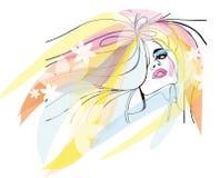 Retrato brilhante fêmea Imagens de Stock