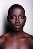 Retrato británico del modelo de moda del afroamericano negro Fotos de archivo libres de regalías