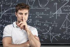 Retrato caucasiano do professor imagem de stock royalty free