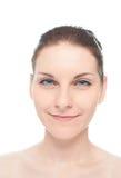 Retrato caucasiano novo da mulher isolado Imagem de Stock Royalty Free