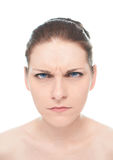 Retrato caucasiano novo da mulher isolado Foto de Stock