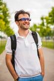 Retrato caucasiano novo do homem Fotografia de Stock
