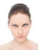 Retrato caucásico joven de la mujer aislado Imagen de archivo