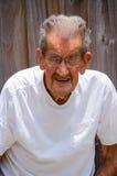 Retrato centenário do homem superior das pessoas de 100 anos Imagens de Stock