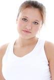 Retrato chave elevado da menina adolescente Imagem de Stock