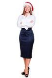 Retrato cheio do comprimento da mulher de negócio Fotos de Stock Royalty Free