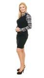 Retrato cheio do comprimento da mulher de negócios nova Imagem de Stock Royalty Free