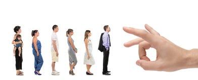 Retrato cheio do comprimento de estar dos homens e das mulheres Foto de Stock Royalty Free