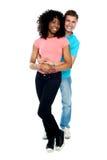 Retrato cheio do comprimento de pares do amor Fotografia de Stock Royalty Free