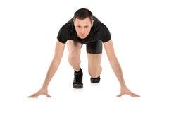 Retrato cheio do comprimento de um atleta masculino imagens de stock