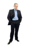 Retrato cheio do comprimento de um homem de negócios fotos de stock royalty free