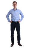 Retrato cheio do comprimento de um homem de negócios novo fotografia de stock