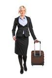 Retrato cheio do comprimento de uma mulher de negócios Fotografia de Stock