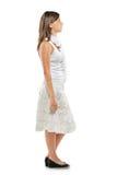 Retrato cheio do comprimento de uma mulher que está em uma linha Fotografia de Stock