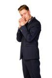 Retrato cheio do comprimento do homem de negócios novo Fotografia de Stock