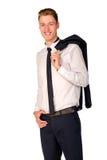 Retrato cheio do comprimento do homem de negócios novo Foto de Stock