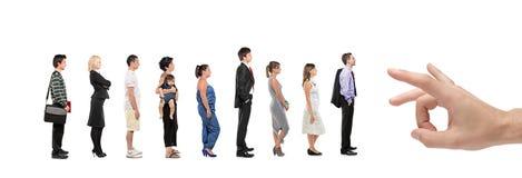 Retrato cheio do comprimento dos homens e das mulheres Fotografia de Stock