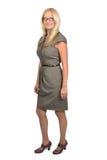 Retrato cheio do corpo da mulher de negócio Foto de Stock