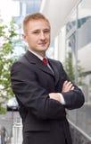 Retrato cheio do corpo de um homem de negócio ocasional Foto de Stock Royalty Free