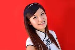 Retrato chinês da mulher foto de stock
