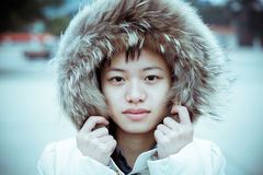 Retrato chino de la muchacha Imágenes de archivo libres de regalías