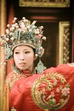 Retrato chino de la mujer de la ópera fotografía de archivo