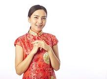 Retrato chino del Año Nuevo del chino asiático Imagenes de archivo
