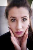 Retrato choc da menina imagens de stock royalty free