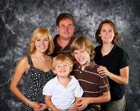 Retrato clássico da família imagem de stock