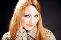 Retrato clássico da mulher bonita Foto de Stock