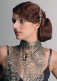 Retrato clássico da senhora Imagens de Stock Royalty Free