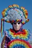 Retrato colorido no carnaval em Annecy, Foto de Stock Royalty Free