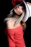 Retrato com chapéu Imagem de Stock Royalty Free