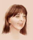 Retrato com a face surpreendida e receosa Fotos de Stock Royalty Free