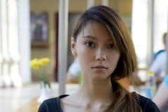 Retrato com a face surpreendida e receosa Foto de Stock