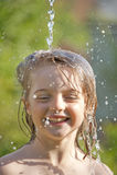 Retrato com gotas da água foto de stock royalty free